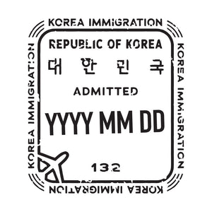 Passport Stamp Decal - South Korea