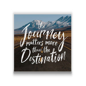 The journey matters more Travel quote Canvas Art Thumbnail