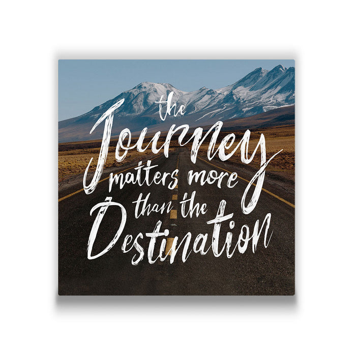 The Journey Matters More - Canvas Wall Art