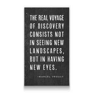 The real voyage Travel quote Canvas Art Thumbnail