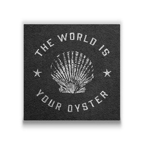 The world is your oyster Travel quote Canvas Art Thumbnail