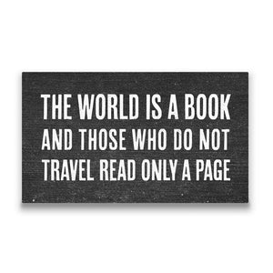 The world is a book Travel quote Canvas Art Thumbnail