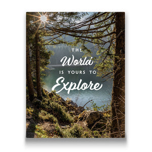 the world is yours to explore Travel quote Canvas Art Thumbnail