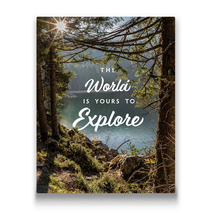 The World Is Yours To Explore - Canvas Wall Art