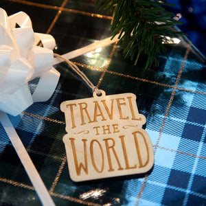 Travel The World - Wooden Christmas Ornament