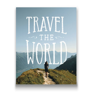 travel the world Travel quote Canvas Art Thumbnail