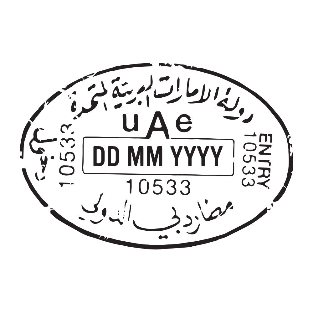 Passport Stamp Decal - United Arab Emirates