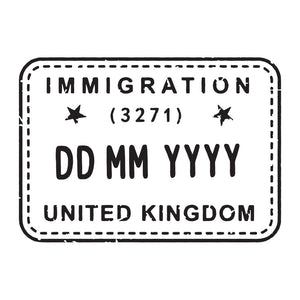 Passport Stamp Decal - United Kingdom