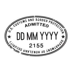 Passport Stamp Decal - United States of America