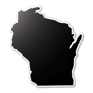 Black Wisconsin State Vinyl Silhouette Car Decal