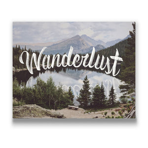 Wanderlust Travel quote Canvas Art Thumbnail