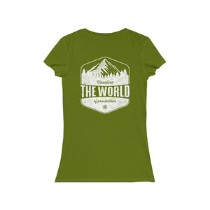 Leaf Conquest Maps Visualize the World of Possibilities women's Tee