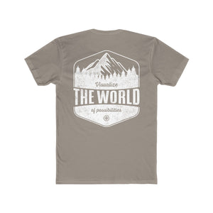 Solid warm gray Conquest Maps Visualize the World of Possibilities Men's Tee