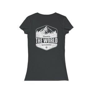 Women's CM V-Neck Tee - Visualize the World of Possibilities (Many Colors)