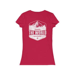 Red Conquest Maps Visualize the World of Possibilities women's Tee
