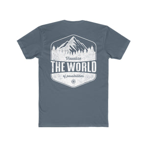 Solid Indigo Conquest Maps Visualize the World of Possibilities Men's Tee