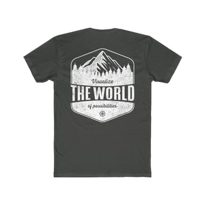 Solid heavy metal Conquest Maps Visualize the World of Possibilities Men's Tee