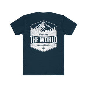 Solid midnight navy Conquest Maps Visualize the World of Possibilities Men's Tee