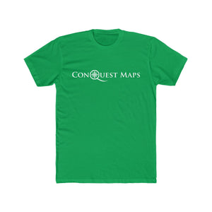 Solid Kelly Green Conquest Maps Visualize the World of Possibilities Men's Tee
