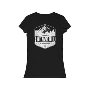 Black Conquest Maps Visualize the World of Possibilities women's Tee