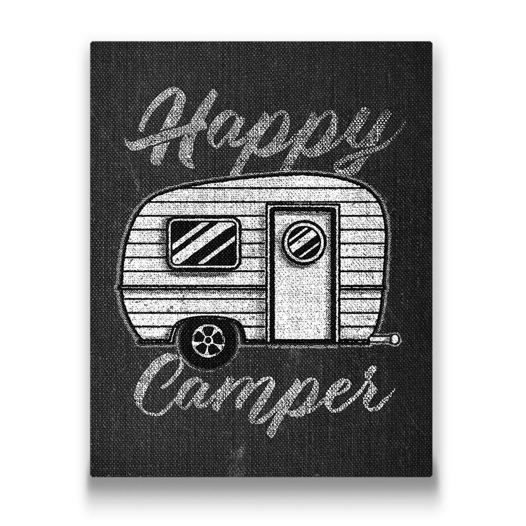 Happy Camper Travel quote Canvas Art Thumbnail