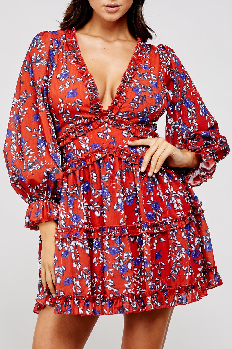 Bend the Rules Floral Dress (4523327324299)