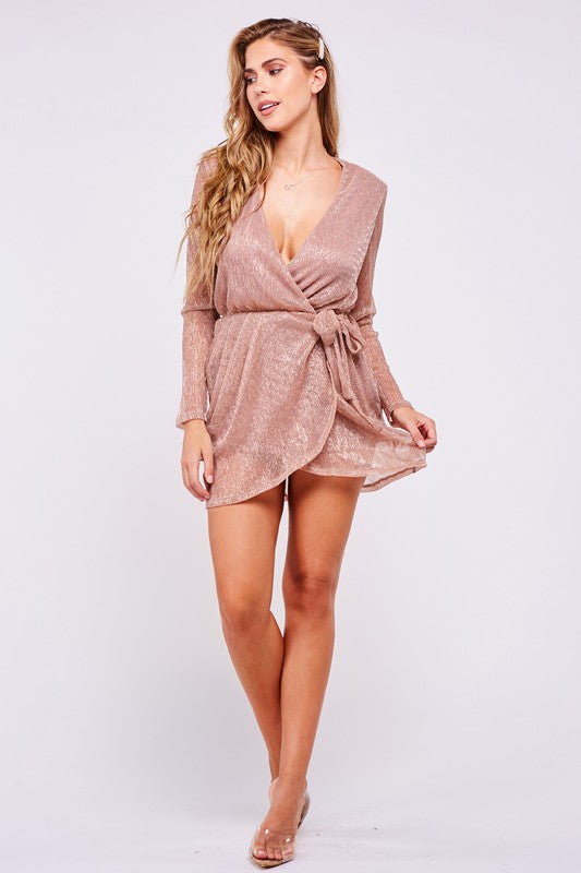 All A Dream Rose Gold Mini Dress (4171884658827)