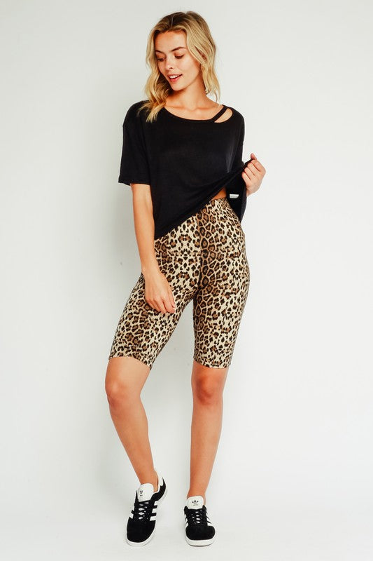 Call Me Maybe Leopard Biker Shorts (4268657606795)