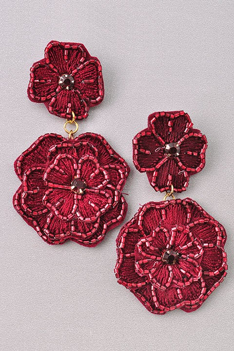 Festive Floral Earrings (2360721932348)