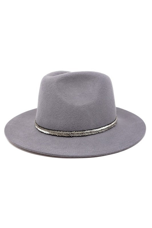 Randie Wool Panama Hat - Grey