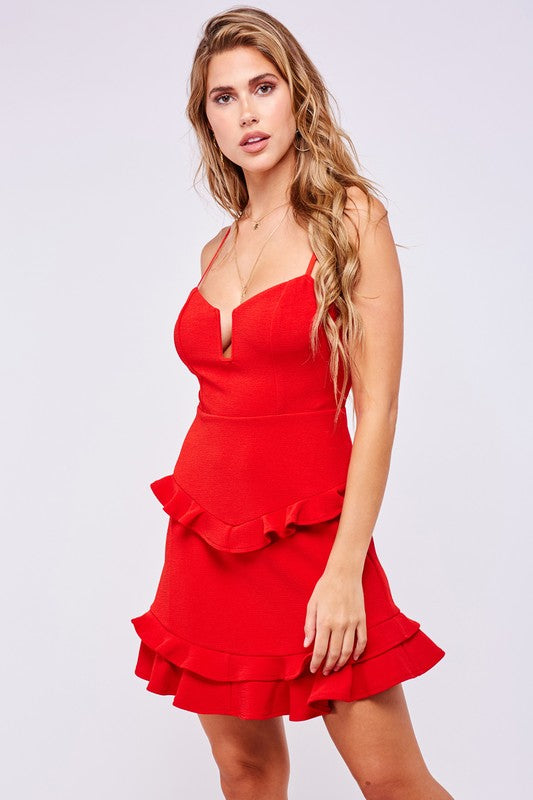 Talk of the Town Red Dress (4635087503499)