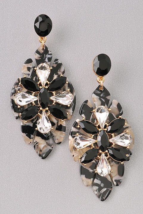Hampton Tortoise Shell Jewel Earrings