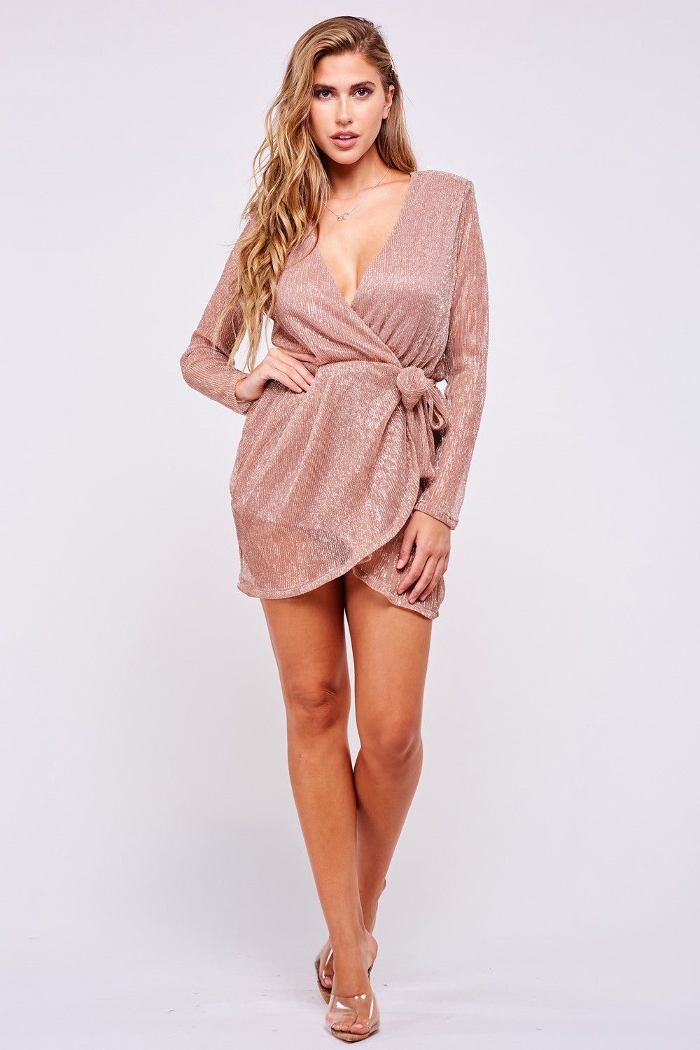 All A Dream Rose Gold Mini Dress