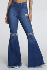 Honey Bee High Waisted Bell Bottoms (4374482616459)