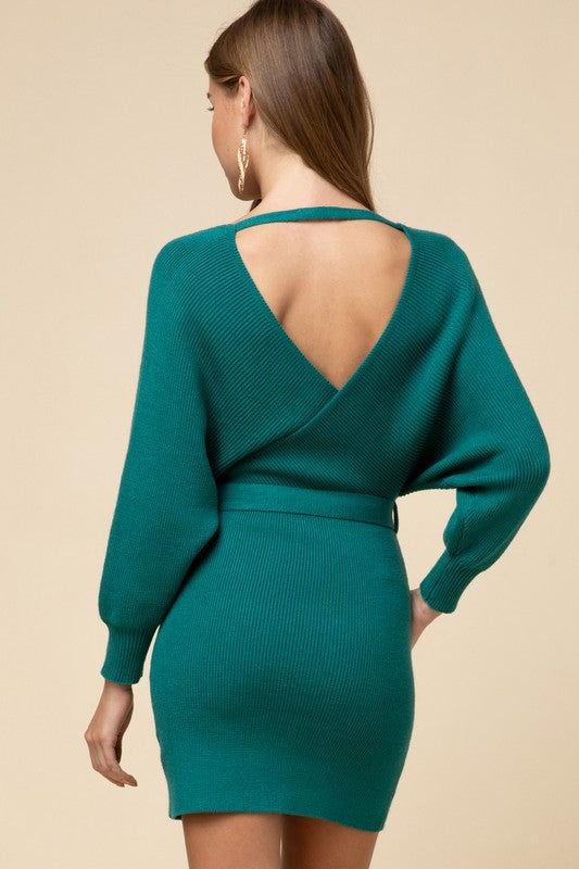 Go Hunter Green Dress (4374461513867)