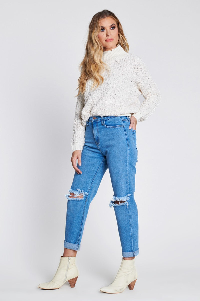 West Coast High Waisted Mom Jeans