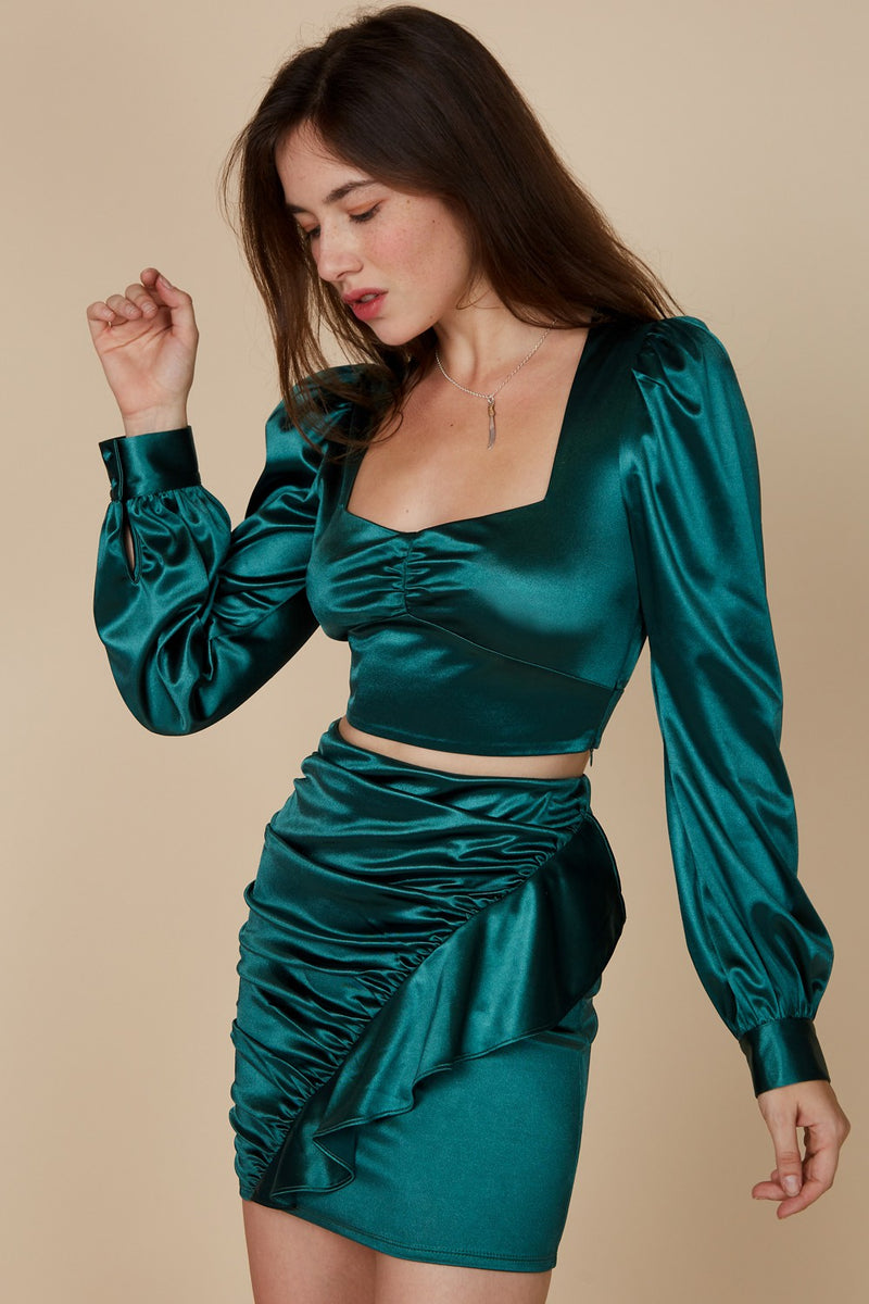 Love Language Satin Two Piece Set