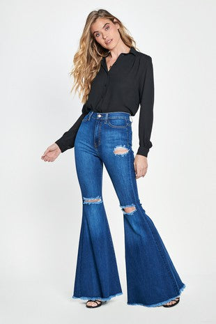 Honey Bee High Waisted Bell Bottoms