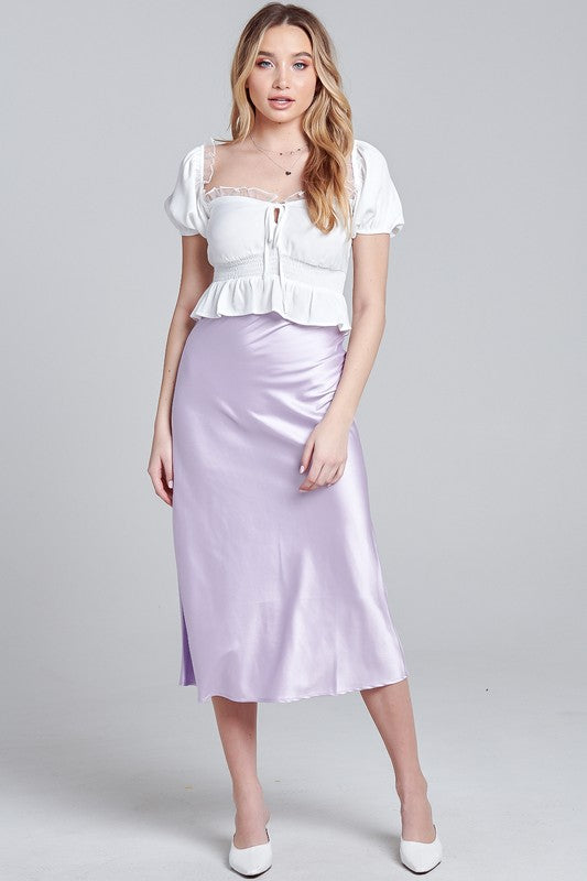 Alice Satin Midi Skirt