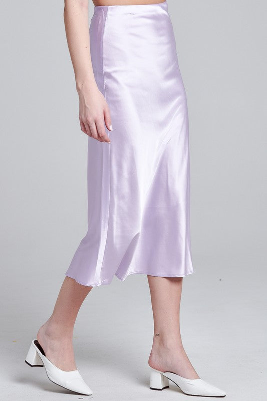 Alice Satin Midi Skirt (4647709769867)