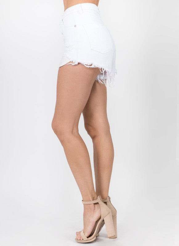 Palm Springs White Denim Shorts