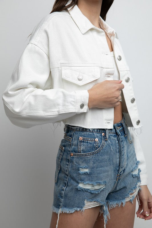 Santa Monica White Denim Jacket