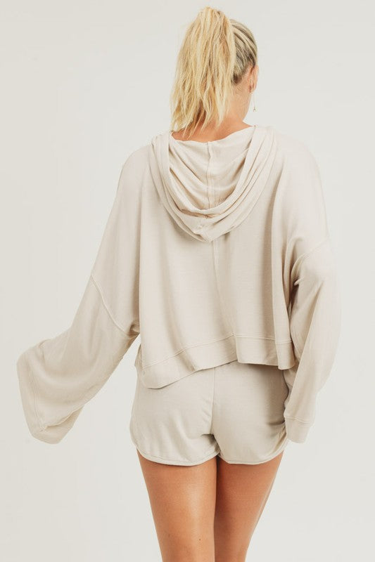 Maison Mineral Washed Oversized Pullover