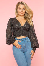 Presley Smocked Top - Black