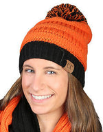 C.C. Orange and Black Beanie (7798477840)