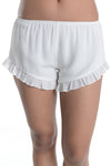 Off White Ruffle Shorts