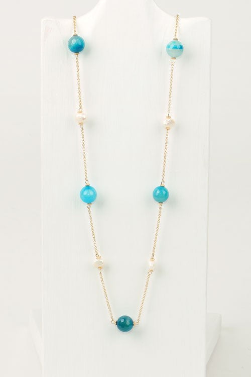 Blue Freshwater Necklace