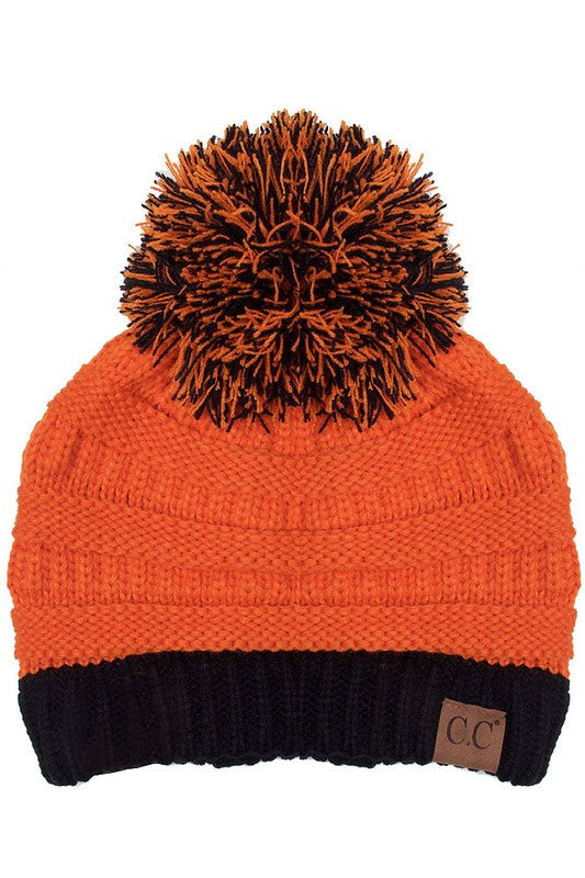C.C. Orange and Black Beanie