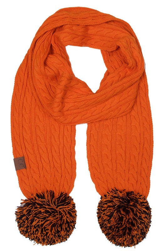 C.C. Orange and Black Scarf