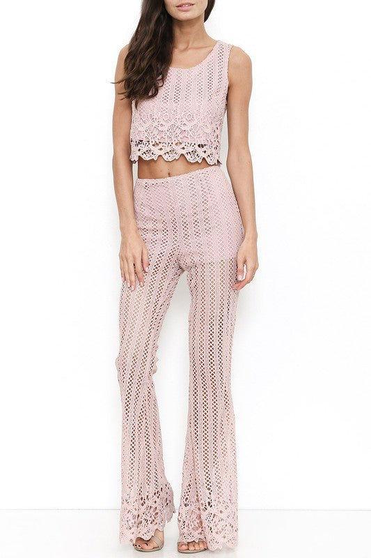 Marjorie Two Piece Pant Set (Top)